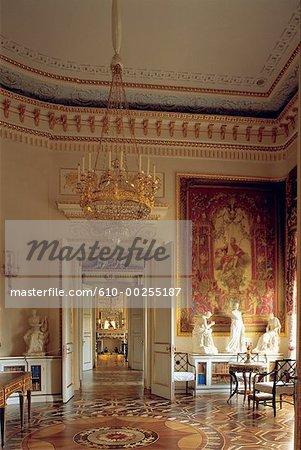 Vue intérieure de la Russie, Saint-Pétersbourg, du château Pavlovsky