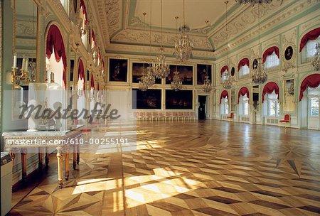 Russia, Saint Petersburg, Throne Room of the Peterhof Palace