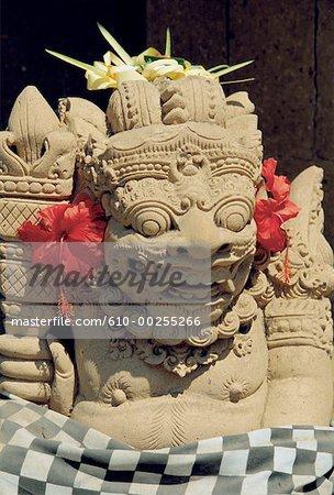 Indonesia, Bali, Sanur, entrance to temple