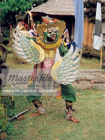 Indonesia, Bali, Barong of Batubulan, Garuda