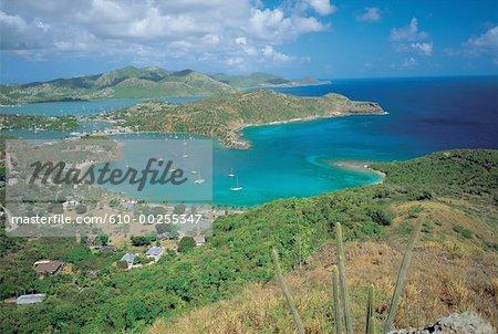 Antigua, Port-des-anglais, la baie et general vue