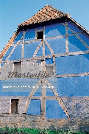France, Alsace, Ecomusée Ungersheim, Alsace, traditionnelle d'habitation