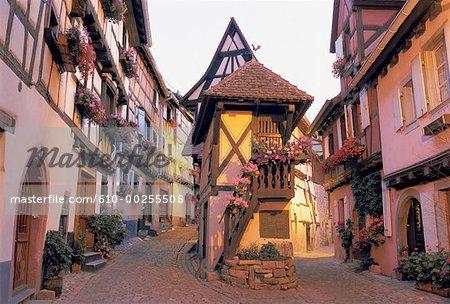 France, Alsace, Village of Eguishem