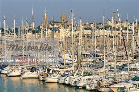 France, Normandy, Granville harbour