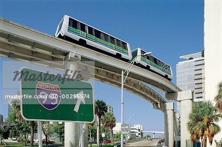 Aux États-Unis, la Floride, Miami, transport