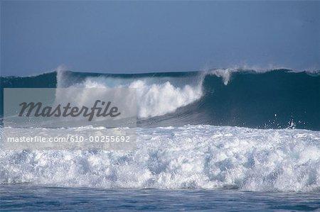 Reunion, Waves on Manapany Beach