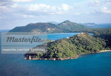 Seychelles, vue aérienne