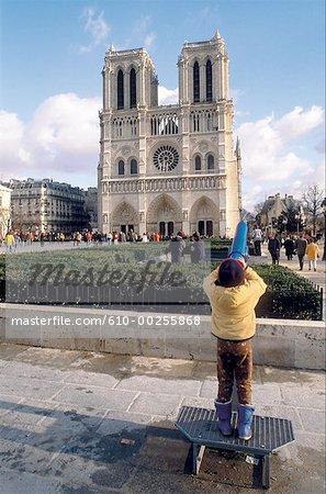 France, Paris, la cathédrale Notre-Dame de Paris