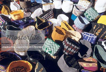 Morocco, Casablanca, market, tarbouchs