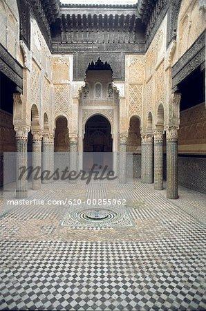 Maroc, vente, Medersa forme du siècle XIVthe