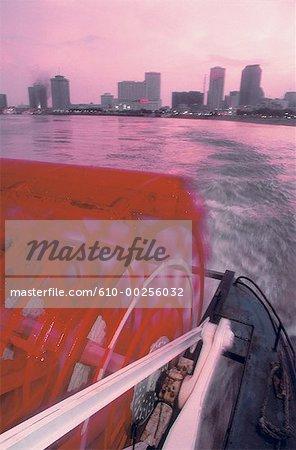 United States, Louisiana, New Orleans, paddleboat