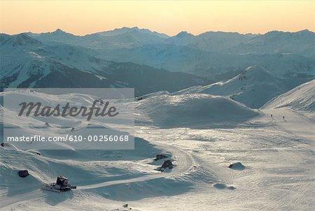 France, Alps, La Plagne, mountain landscape