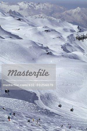 France, Alpes, Val Thorens, paysage de montagne