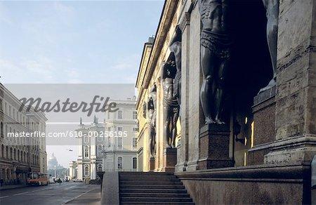 Russia, Saint Petersburg, Atlants at the Hermitage Museum