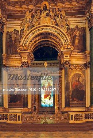 Vitrail Saint-Pétersbourg, en Russie, dans la cathédrale de Saint Isaac