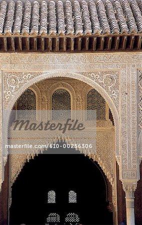 Patio Espagne, Andalousie, Grenade, Alhambra, des Myrtes