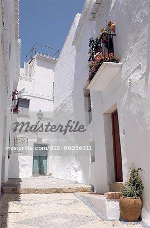 Espagne, Andalousie, Frigiciana, maisons blanches