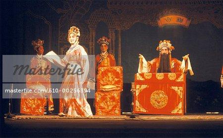 Scène classique opéra de Canton, Chine
