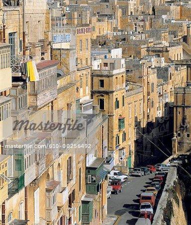 Malte, La Valette, vue depuis les jardins de « Upper Baracca »