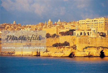 Malte, La Valette, vue sur les remparts du Fort Senglea