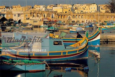 Malte, port de Marsaxlokk
