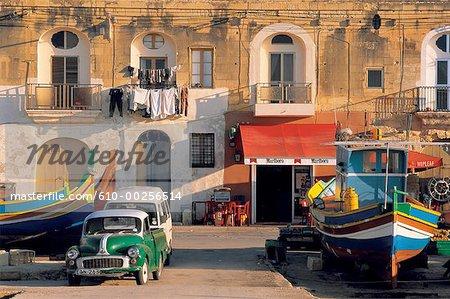 Malte, quai de Marsaxlokk port