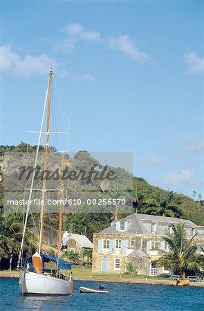 Antigua, Port-of-English and sailboat
