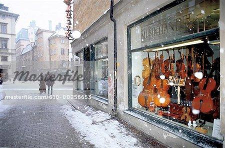 Sweden, Stockholm, Shop windows in Gamla Stan
