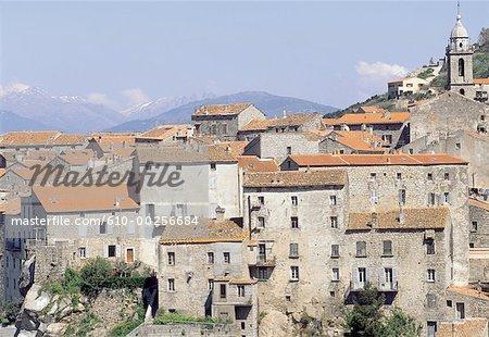 France, Corsica, Sartene, traditional homes
