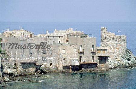 France, Corsica, Erbalunga, village by the sea
