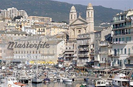 France, Corse, Bastia, la ville et le vieux port