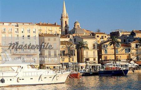 France, Corse, Calvi, la vieille ville et son port