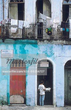 Maison du Brésil, Salvador, dans le quartier de la classe ouvrière
