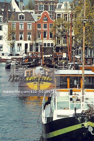 Les canaux de Hollande, Amsterdam,