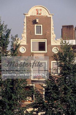 La maison à pignon des pays-bas, Amsterdam,