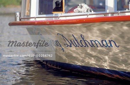Le bateau de rivière des pays-bas, Amsterdam,