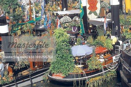 La fête de canal d'Amsterdam, Pays-Bas