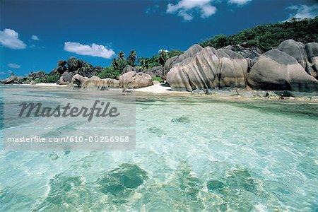 Seychelles, rochers de granit