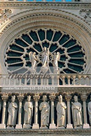 France, Paris, Notre Dame rose window