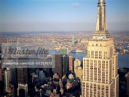 United States, New York, Manhattan at dusk