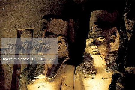 Abu Simbel, statues of Ramses II temple