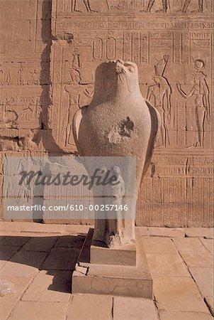 The temple of Horus at Edfu, the falcon-headed god