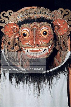 Indonesia, Bali, Antique Barong head