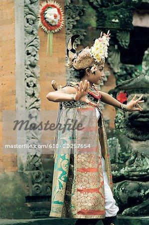 Indonésie, Bali, Barong dans le village de Batubulan