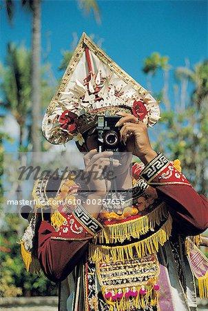 Danseur de Baris de Bali, en Indonésie, une photographie de tir