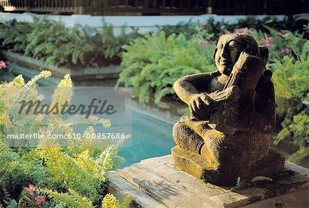 Indonésie, Bali, entrée d'un hôtel à Nusa Dua