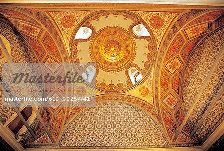 Turkey, Istanbul, Topkapi palace, ceiling