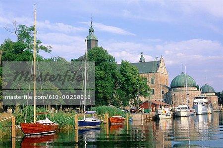 Suède, Vättem lac, Vadstena