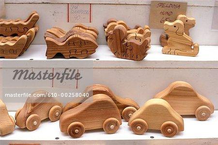 Sweden, Stockholm, wooden toys