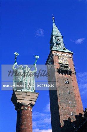 Denmark, Copenhagen, the City Hall tower
